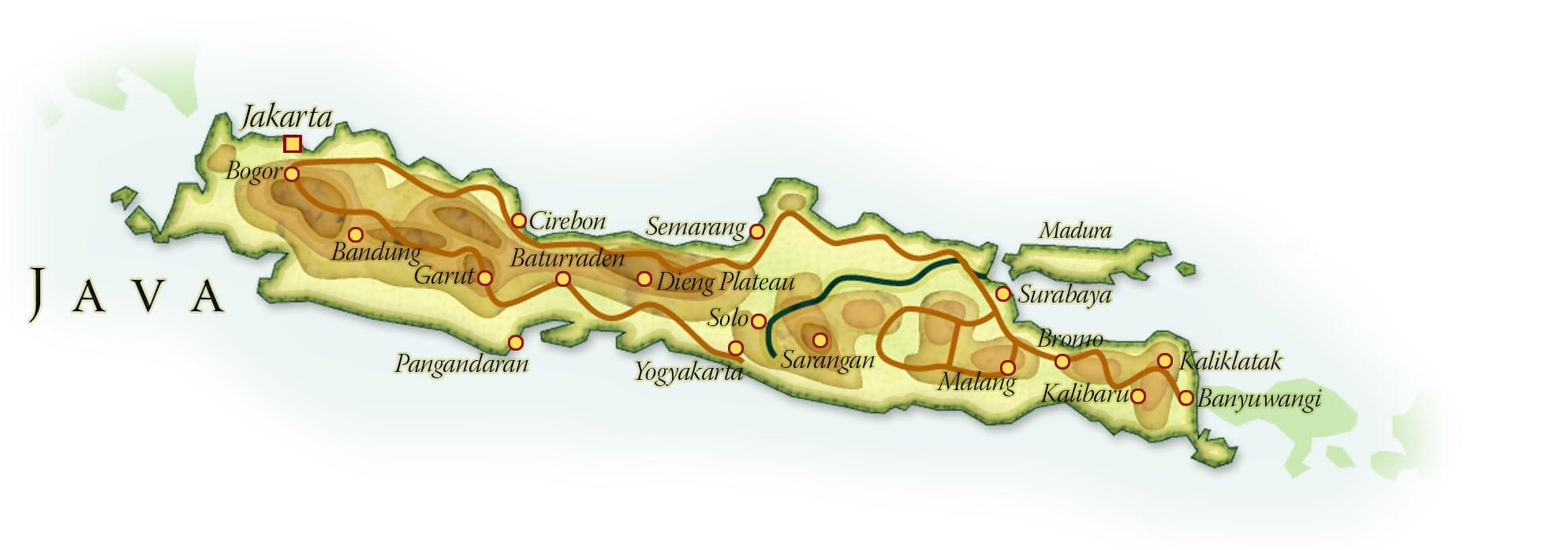 Landkaart Java