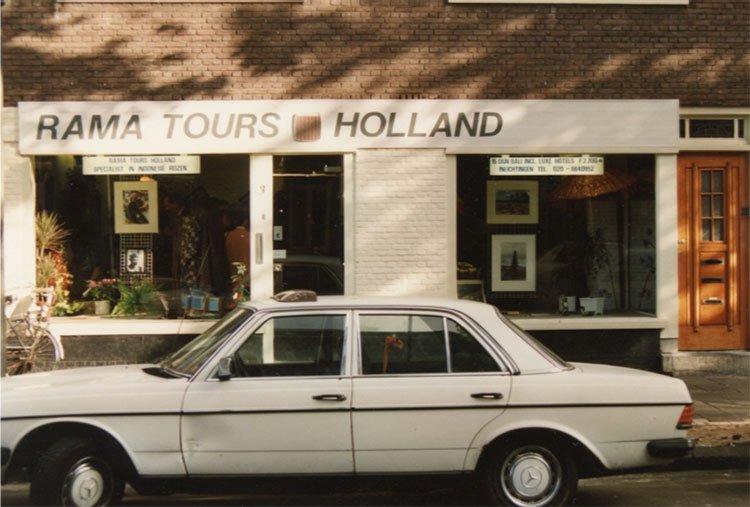De oude voorgevel van Rama Tours Holland