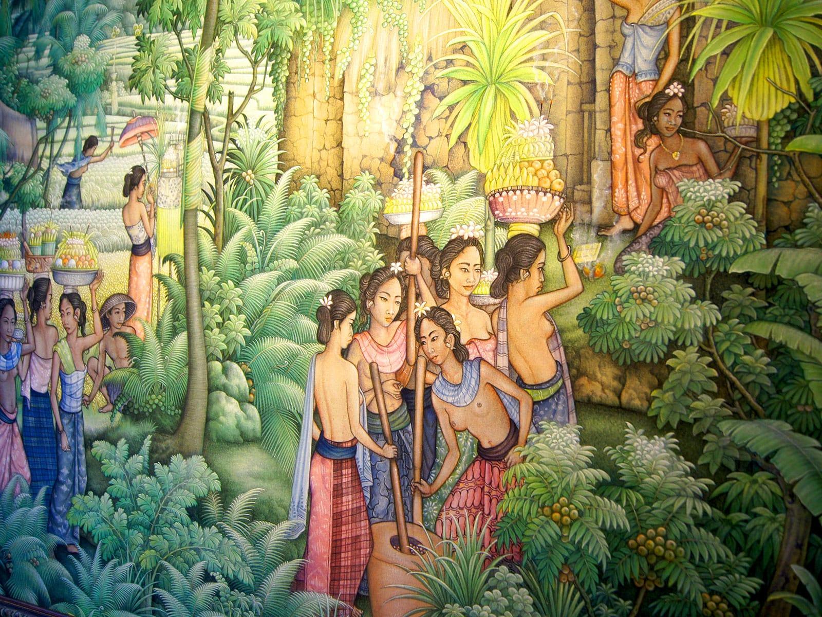 schilderij i wayan sadia | rama tours holland ons kantoor