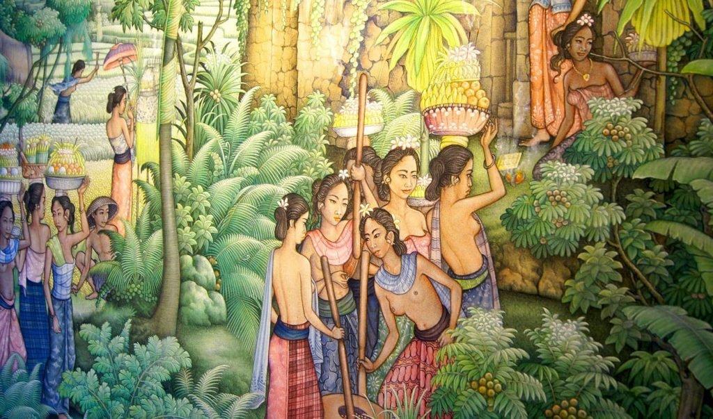 Kunst op kantoor van Rama Tours